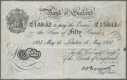 """Great Britain / Großbritannien: Operation """"BERNHARD"""" Forgery Of 50 Pounds 1935, London Branch, Signa - [ 1] Grossbritannien"""