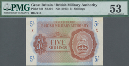 Great Britain / Großbritannien: British Military Authority 5 Shillings ND(1943), P.M4, Block X, Used - [ 1] Grossbritannien