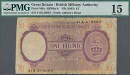 Great Britain / Großbritannien: British Military Authority 1 Pound ND(1943), P.M6a, Block X, Used Fo - [ 1] Grossbritannien