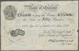 Great Britain / Großbritannien: 50 Pounds 1933 Operation Bernhard Note In Used Condition With Severa - [ 1] Grossbritannien