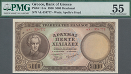 Greece / Griechenland: Bank Of Greece 5000 Drachmai 1950, P.184, Excellent Condition With A Few Mino - Griechenland