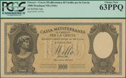 Greece / Griechenland: Cassa Mediterranea Per La Grecia 1000 Drachmai ND(1941), P.M6, Almost Perfect - Griechenland
