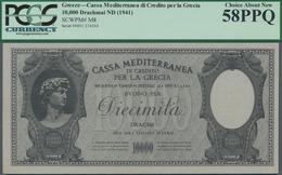 Greece / Griechenland: Cassa Mediterranea Per La Grecia 10.000 Drachmai ND(1941), P.M8, Great Origin - Griechenland