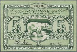 Greenland / Grönland: Grønlands Styrelse 5 Kroner ND(1926-45) With Signatures: Oldendow & Sveistrup, - Grönland
