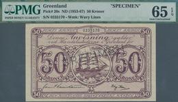 Greenland / Grönland: 50 Kroner ND(1953-67) SPECIMEN, P.20s, Very Rare And In Excellent Condition, P - Grönland