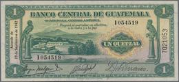 Guatemala: Very Nice Set With 3 Banknotes Containing For The Banco Intenacional De Guatemala 1 Peso - Guatemala