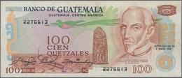 "Guatemala: Nice Set With 3 Banknotes Containing 1 Quetzal 1946 With Overprint ""Banco De Guatemala"" O - Guatemala"