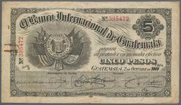 Guatemala: El Banco Internacional De Guatemala 5 Pesos 1916, P.S155b, Almost Well Worn Condition Wit - Guatemala