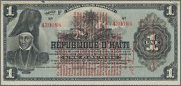Haiti: Banque Nationale De La République D'Haïti 1 Gourde L.1919, P.140 Overprint On #131, Great Con - Haïti