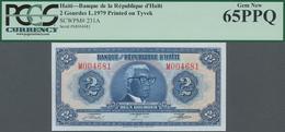 Haiti: Banque De La République D'Haïti 2 Gourdes L.1979, Printed On TYVEK, P.231A In Perfect Conditi - Haïti