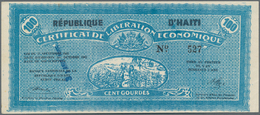 Haiti: Banque Nationale De La République D'Haïti Seldom Offered Pair With 5 And 100 Gourdes 1962 Of - Haïti