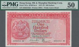 Hong Kong: The Hongkong And Shanghai Banking Corporation 100 Dollars 1977, P.187a, Excellent Conditi - Hongkong