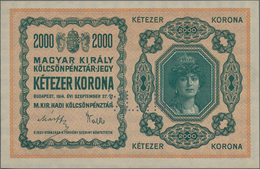 """Hungary / Ungarn: Royal Hungarian War Loan Bank 2000 Korona 1914 SPECIMEN, P.2s With Perforation """"MI - Hungary"""