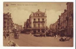 CPA - OSTENDE - Boulevard Van Iseghem Et La Rue Longue - (Voiture Ancienne De Sport, Calèche, Animée) - Oostende