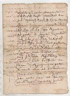 Vieux Papier XVII° Siècle - Manuscripts