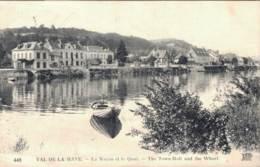 76 VAL DE LA HAYE LA MAIRIE ET LE QUAI CIRCULEE - France