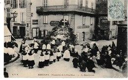 Saône Et Loire MARCIGNY Procession De La Fête-Dieu La Bénédiction - Autres Communes