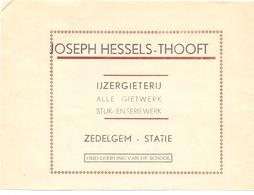 Pub Reclame - Orig. Knipsel Magazine - Ijzergieterij Joseph Hessels - Thooft - Zedelgem Statie - 1947 - Advertising
