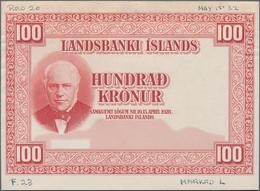 Iceland / Island: Landsbanki Íslands, Highly Rare Set With 5 Progressive Proofs With Front And Rever - Island