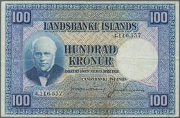 Iceland / Island: Landsbanki Íslands 100 Kronur L. 15.04.1928, P.35a, Still Nice With A Few Folds An - Island