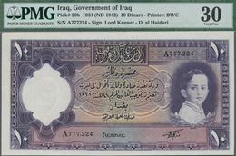 Iraq / Irak: Government Of Iraq 10 Dinars L.1931 (1942) With Signature: Lord Kennet, P.20b, Extraord - Iraq