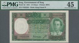 Iraq / Irak: Government Of Iraq ¼ Dinar L.1931 (1948), P.22, Highly Rare Banknote In Great Condition - Iraq