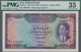 Iraq / Irak: National Bank Of Iraq 10 Dinars L.1947 (1950), P.31, Great And Rare Banknote In Very Ni - Iraq