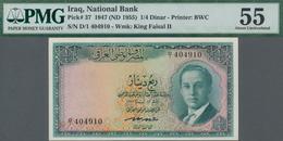 Iraq / Irak: National Bank Of Iraq ¼ Dinar L.1947 (1955), P.37, Almost Perfect Condition And PMG Gra - Iraq