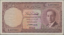 Iraq / Irak: National Bank Of Iraq ½ Dinar L.1947 (1955), P.38b, Still Great Condition With A Number - Iraq