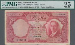 Iraq / Irak: National Bank Of Iraq 5 Dinars 1947 (ND 1955), P.40b, Some Minor Margin Splits And Tiny - Iraq