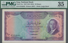 Iraq / Irak: National Bank Of Iraq 10 Dinars L.1947 (1955), P.41a, Great Condition With A Few Folds - Iraq