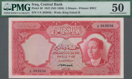 Iraq / Irak: Central Bank Of Iraq 5 Dinars L.1947 (1959), P.49, Highly Rare Banknote In Excellent Co - Iraq