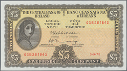 Ireland / Irland: Set With 3 Banknotes Lady Lavery With 10 Shillings 1968 (aUNC), 1 Pound 1975 (UNC) - Irland