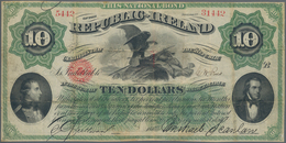 Ireland / Irland: National Bond Of 10 Dollars 1867, P.S102a, Some Folds And Tiny Holes At Center, In - Irland