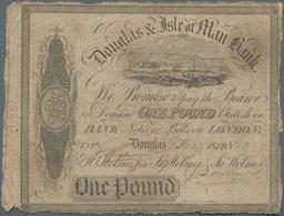 Isle Of Man: Douglas & Isle Of Man Bank 1 Pound 1844, P.S131, Very Rare And Seldom Offered Note, Sti - [ 4] Isle Of Man / Channel Island