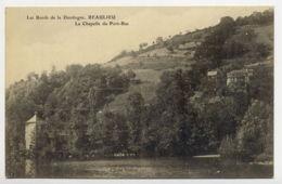24*DORDOGNE-Les Bords De La Dordogne-Beaulieu-La Chapelle De Port Bas - Francia