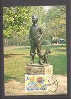 Carte Maximum - Monument à Tintin & Milou - Parc De Wolvendael Uccle - Hergé - Timbre N° 1944 - 1979 - Maximum Cards