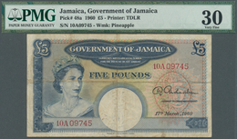 Jamaica: Government Of Jamaica 5 Pounds March 17th 1960, P.48a, Highly Rare Note In Used Condition W - Jamaica