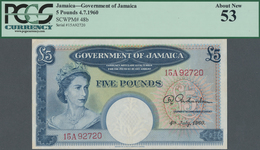 Jamaica: Government Of Jamaica 5 Pounds July 4rd 1960, P.48b, Very Popular Note In Great Condition W - Jamaica