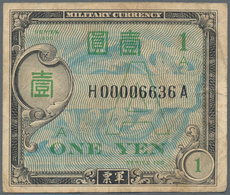 """Japan: Allied Military Command 1 Yen ND(1946), Letter """"A"""" In Underprint (Experimental Military Payme - Japan"""