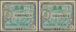 """Japan: Allied Military Command Set With 2x 1 Yen ND(1945), Letter """"B"""" In Underprint With Serial Numb - Japan"""