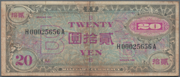 """Japan: Allied Military Command Set With 20 Yen ND(1945), Letter """"B"""" In Underprint With Serial Number - Japan"""