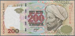 Kazakhstan / Kasachstan: Lot With 7 Banknotes Comprising 2x 200 Tenge 1999 P.20a,b (UNC), 2x 500 Ten - Kazakhstan