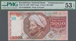Kazakhstan / Kasachstan: 5000 Tenge 2001 Commemorating The 10th Anniversary Of Independence, P.26, S - Kazakhstan