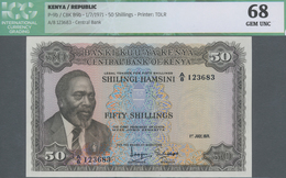 Kenya / Kenia: 50 Shillings 1971, P.9b In UNC, ICG Graded 68 Gem UNC - Kenia