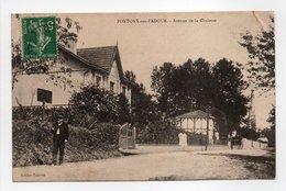 - CPA PONTONX-SUR-L'ADOUR (40) - Avenue De La Chalosse 1912 - Edition Fabères - - Francia
