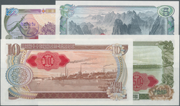 Korea: Set With 4 Banknotes 1978 Series 1, 5, 10 And 50 Won With Red Seal On Back, P.18d-21d, All In - Korea (Süd-)