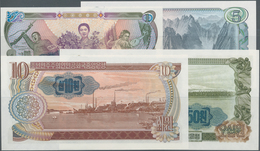 Korea: Set With 4 Banknotes 1, 5, 10 And 50 Won 1978, All With Blue Seal On Back, P.18e-21e, All In - Korea (Süd-)