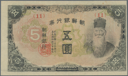 Korea: 5 Yen ND(1945), P.39a In About XF Condition - Korea (Süd-)