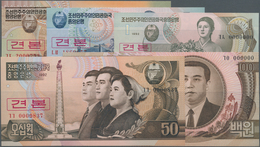 Korea: Set With 5 Banknotes 1, 5, 10, 50 And 100 Won 1992 SPECIMEN, P.39s-43s, All In UNC Condition. - Korea (Süd-)